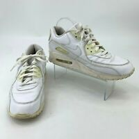 Nike Air Max 90 Men's Size 11 White Leather Athletic Training Fashion Sneakers