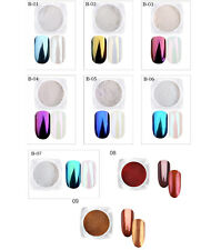Nail Art Metallic Chrome Effect Mirror Mermaid Pigment Powder, Colour Choice, UK