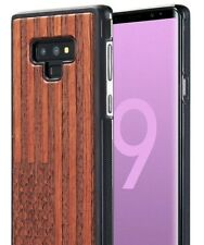 For Samsung Galaxy Note 9 - Hybrid Real Wood Armor Case Cover USA American Flag