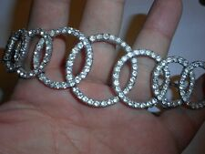 Nettie Rosenstein Interlinked Circles Pave Brilliant Crystal Choker Necklace