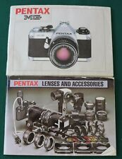 Pentax Mg Camera Manual plus booklet on Lenses and Accessories 2 books!