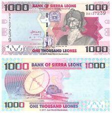 Sierra Leona 1000 adelante 2010 P-30 Billetes Unc