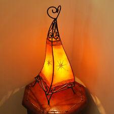 Orientalische Hennalampe Marokko Lampe Lederlampe 58cm Stehleuchte in Orange