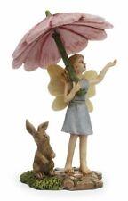 Miniature Dollhouse Fairy Garden Fairy w/ Umbrella & Rabbit - Buy 3 Save $5