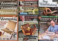 Lot 9 Woodworking Magazines Fine/Popular Woodworkers Journal Woodcraft Tools
