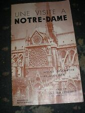 UNE VISITE A NOTRE-DAME DE PARIS 16 PAGE BOOKLET 1945 FRENCH LANGUAGE
