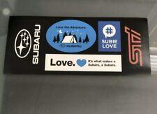 SUBARU 5 Sticker Set #SubieLove STI The Adventure Logo NEW Subaru Stickers WRX