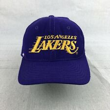 Vintage 90s Los Angeles Lakers Sports Specialties Script Wool Snapback Hat NBA