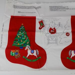"Cranston Print Works ""Babies First Christmas"" Fabric Panel Stocking Bib Ornament"