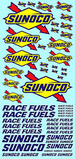 Sunoco Model Car Sponsors Decal 1:3 2 Decal