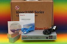 """DRAYTEK Vigor 3120 Router DSL G.SHDSL SDSL Modem 19"""" Rack Switch OVP"""