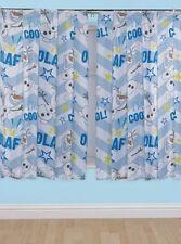 Blue Disney Frozen Olaf Curtains 54s