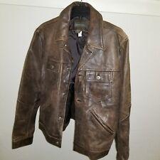 Men's Vintage Banana Republic Brown Leather Bomber Jacket  (M)