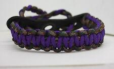 bow wrist sling neon purple and camo