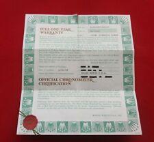 ROLEX 18238 President Day Date Gold  Warranty Certificate Guarantee