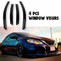 JDM Wavy Style Smoked Window Visor Vent Shade For 2013-2019 Nissan Sentra Sedan