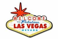 Welcome to the Fabulous Las Vegas Nevada Shaped Metal Sign 450mm x 330mm (pst)