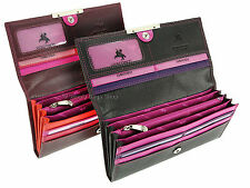 Visconti Multi Compartment Ladies Soft Leather Purse Wallet In Gift Box - R11