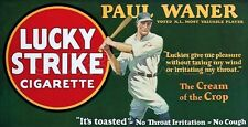 1928 Lucky Strike Store Counter Standup Sign Paul Waner Pirates Repro
