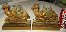 Antique Egyptian Revival C.J.O. Judd Camel Art Deco Statue Sculpture Bookends