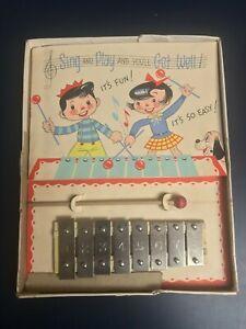 Vintage Children's Xylophone Toy + Original Mailer Box Vintage Children's Toy