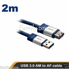 USB 3.0 Extension Cable 2m Super Speed Extension Cable A Male to A Female USB 3