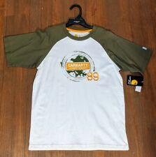 "Carhartt Force Yellow Shirt /""Carhartt Outdoors/"" CA8555 Boys//Youth//Kids NWT"