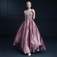 2019 Runway Womens Sleeveless Evening Prom Dress A Line Swing Ball Gown Party Sz
