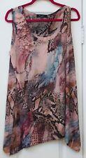 B.L.E.U. Woman 2X sleeveless print top