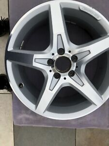 "1 x Mercedes Benz SLK R172 W172 18"" AMG SILVER FRONT GENUINE OEM Alloy Wheel"