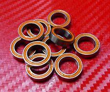 5 Piezas 6702-2RS (15x21x4 mm) Metal Naranja con Junta de Goma Rodamientos