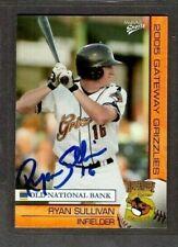 2005 Multi-Ad Gateway Grizzlies #26 Ryan Sullivan Baseball Signed Autograph