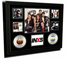 INXS SIGNED LIMITED EDITION FRAMED MEMORABILIA