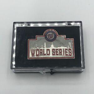 2019 WASHINGTON NATIONALS MLB World Series Press Pin MINT!