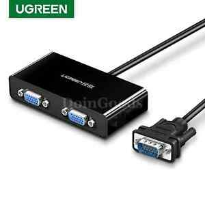 Ugreen Vga Switch Splitter 2 Port Cable switcher Cord Kvm Box Male To Vga Female