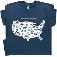American Wildlife T Shirt Nature Retro Cool Camping Yellowstone National Park