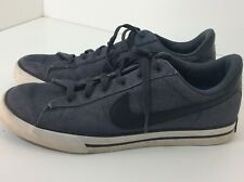 Nike Gray Canvas Black Swoosh Sneakers Tennis Shoes 2012 Size 11.5