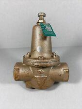 Watts Pressure Regulator Valve Iron 1234 N250b Set Std Range 25 75 Read Desc