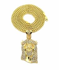 Men's Rhinestone Chains, Necklaces and Pendants
