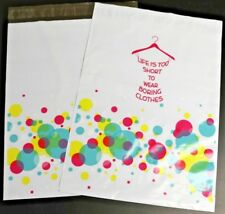 """100 7.5x10.5 Poly Mailer """"Bubbly Shopping Dress""""   Clothing Mail Shipping Bag"""