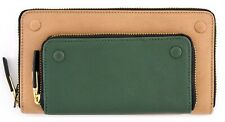 NWT VINCE CAMUTO MIKEY GENUINE LEATHER ZIP AROUND WALLET MOCHA RICH PINE $118