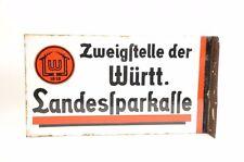 Seltenes Fahnen-Emailleschild - Würtembergische Landessparkasse
