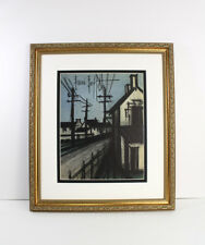 "WOW ORIGINAL Bernard Buffet 1967 Lithograph ""The Village Road"" SIGNED FRAMED COA"