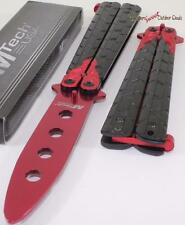 MTech Black Red Dragon Balisong Training Practice Butterfly Style Knife