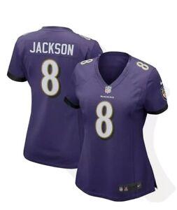 Lamar Jackson Baltimore Ravens Nike NFL Game Jersey Women's Size Small  #8