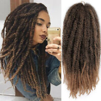 "Layered Brazilian Long Hair Curly marley braids 18"" Twist Soft Dreadlocks New"