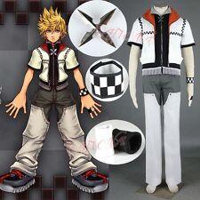 Cafiona Kingdom Hearts I Roxas Cosplay Costume Cool Man Suits White Custom Made