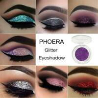 PHOERA Matte Eyeshadow Shimmer Glitter Eye Shadow Powder Palette Make Up Gothic