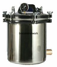 220V PORTABLE PRESSURE 8L Steam Autoclave Sterilizer Dental Equipment
