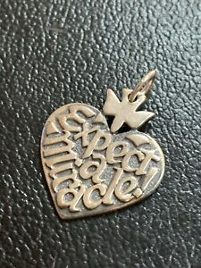 James Avery Silver Retired Expect A Miracle Charm